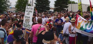 Crowd at Steinbach's First Pride 2016
